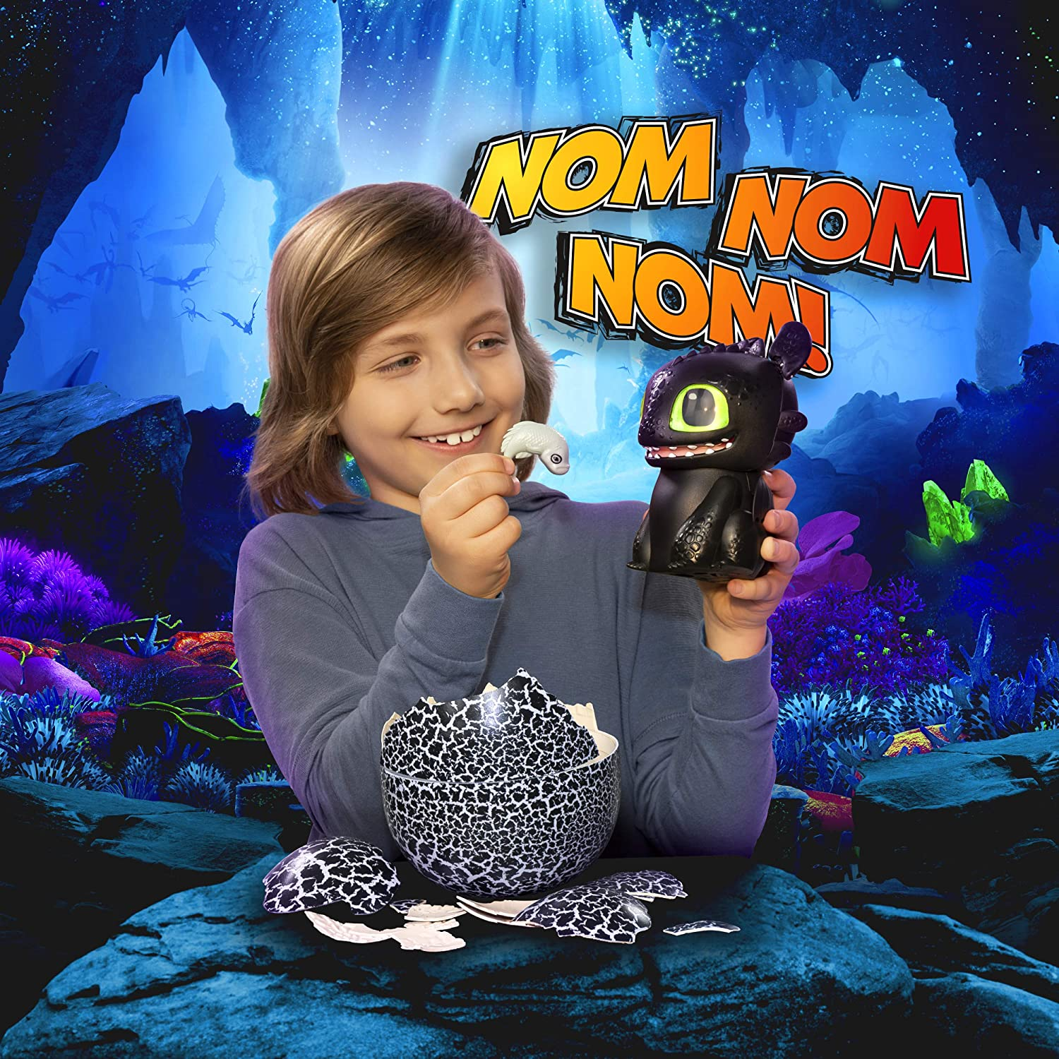 Hatching Toothless Interactive Baby Dragon with Sounds for Kids Aged 5 /& Up Dreamworks Dragons