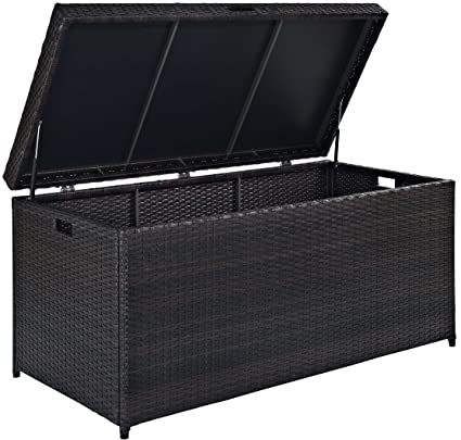 Amazon Com Crosley Furniture Palm Harbor Outdoor Wicker Storage