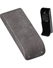 M-world Glasses Case & Eyeglass Stand Holder 2way case, Lightweight, Compact, Aluminum, Hard Shell