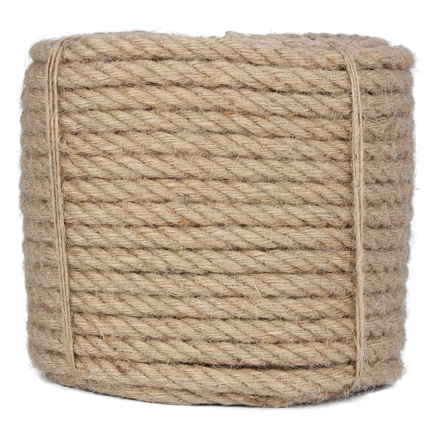 100 Feet 2/5-Inch Natural Jute Twine Hemp String Christmas Twine String Packing Materials Durable Hemp Twine for Gardening