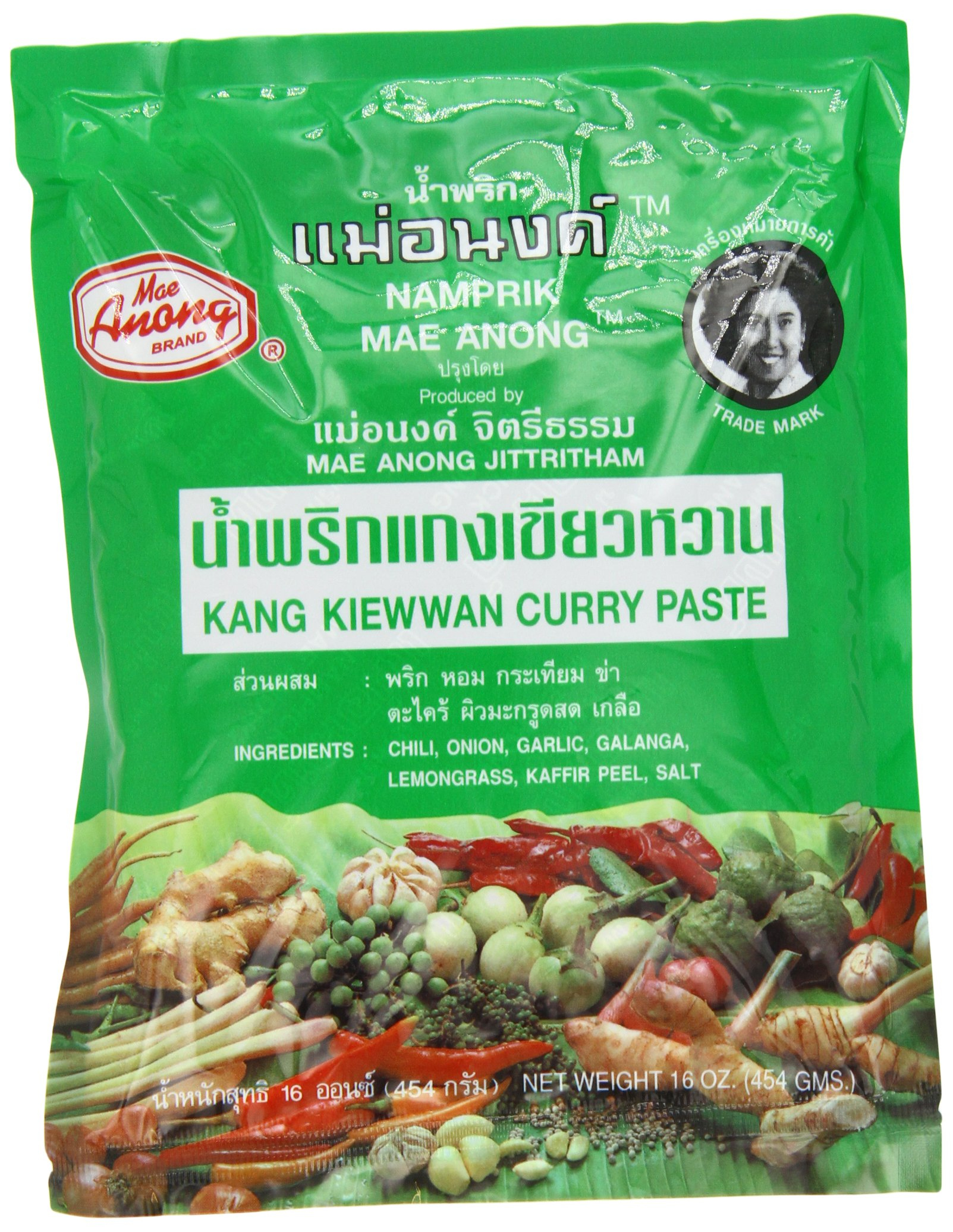 Mae Anong Green Curry Paste, 16-Ounce