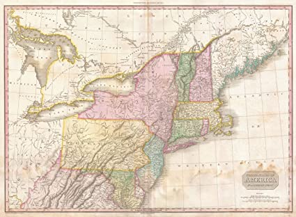 Amazon.com: Historical 1818 Pinkerton Map of the Northern United ...