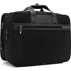 クロース(Kroeus)ビジネスバッグ 人気 通勤 出張 多機能 大容量 マチ拡張機能 キャリーに通せる ショルダーバッグ ブリーフケース PCバッグ PC専用袋付き カジュアル おしゃれ 手提げ ショルダー 2way ブラック