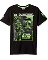 Star Wars Men's Official Rogue One Death Trooper Schematic Graphic Tee