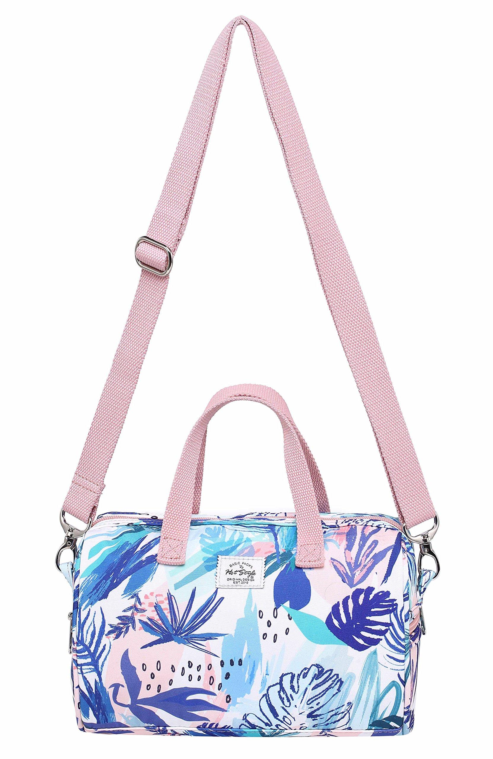 MIETTE Girls Mini Crossbody Shoulder Bag Small Handbag | 9.4''x6.2''x4.7'' | Floral, Pink