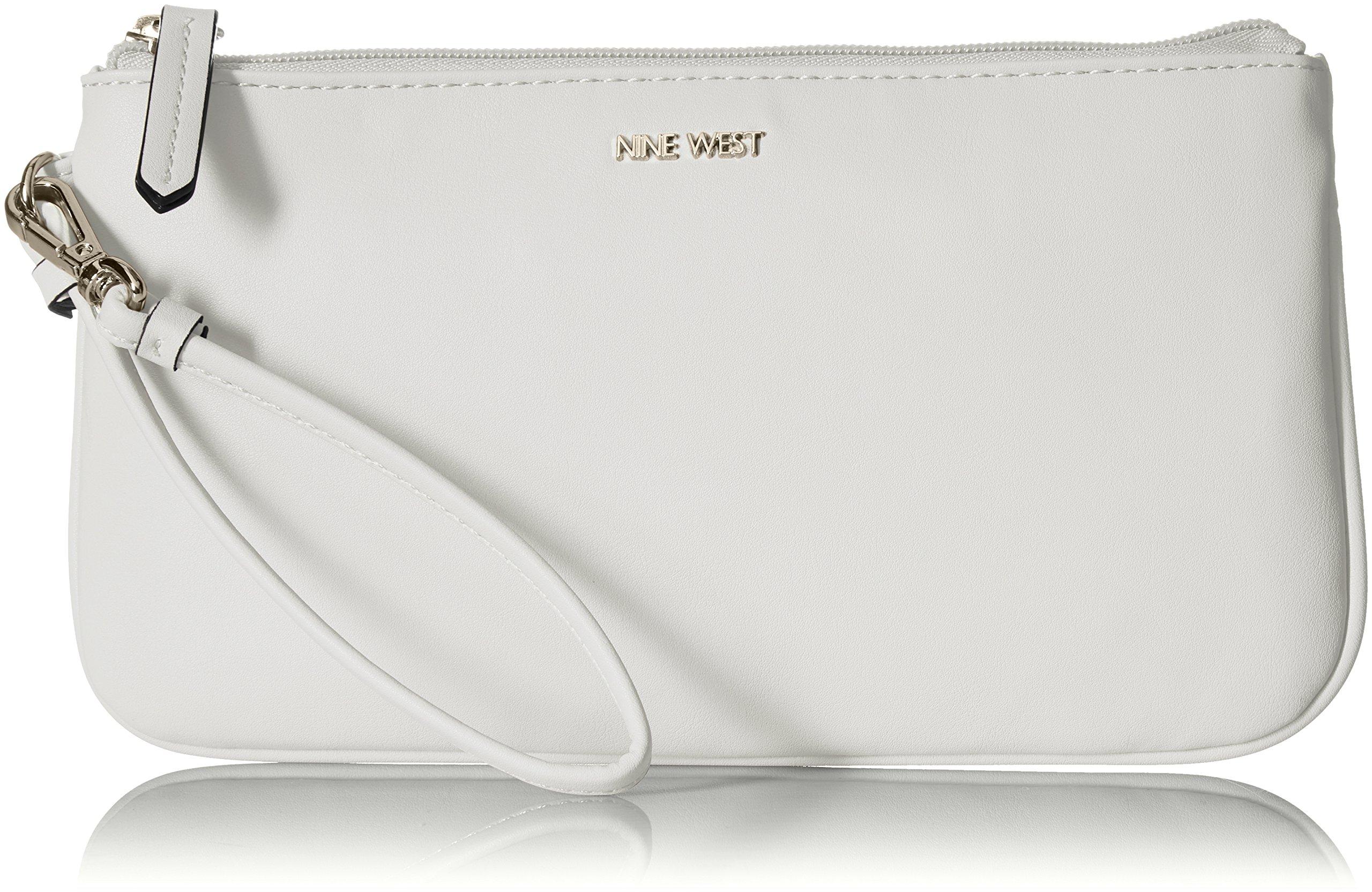 Nine West E/W Wristlet, Optic White , One Size