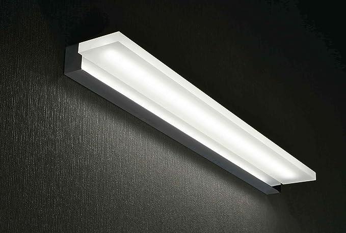 Applique lampada da parete luce da specchio bagno led 20w 3000k 63cm