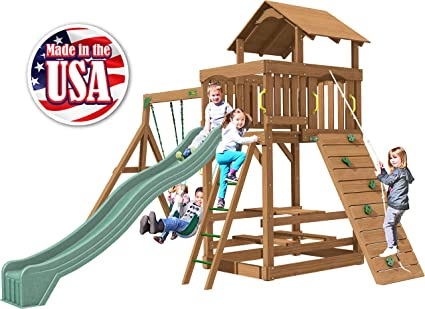 Creative Playthings (Playtime Series) Spring Hill Swing Set Made In The USA