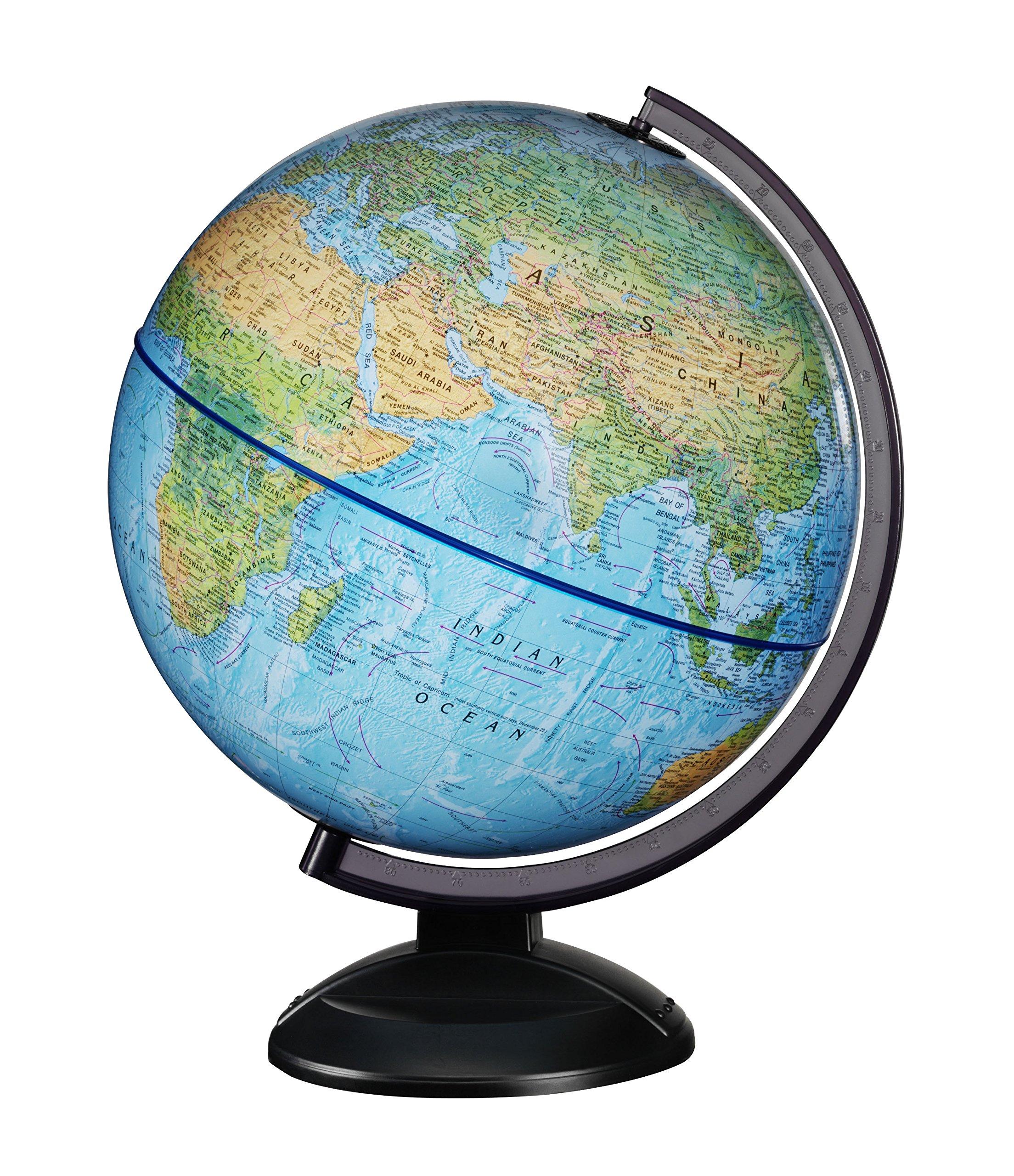 Replogle 12'' RTA -Ready to Assemble World Globe (30cm Diameter) Blue