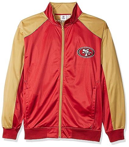 5e74aa89 NFL Mens 49ERS Full Zip Tricot Track Jacket