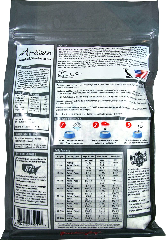 Grandma Lucy s Artisan Grain-Free Premix Dog Food, 3-Pound Bag