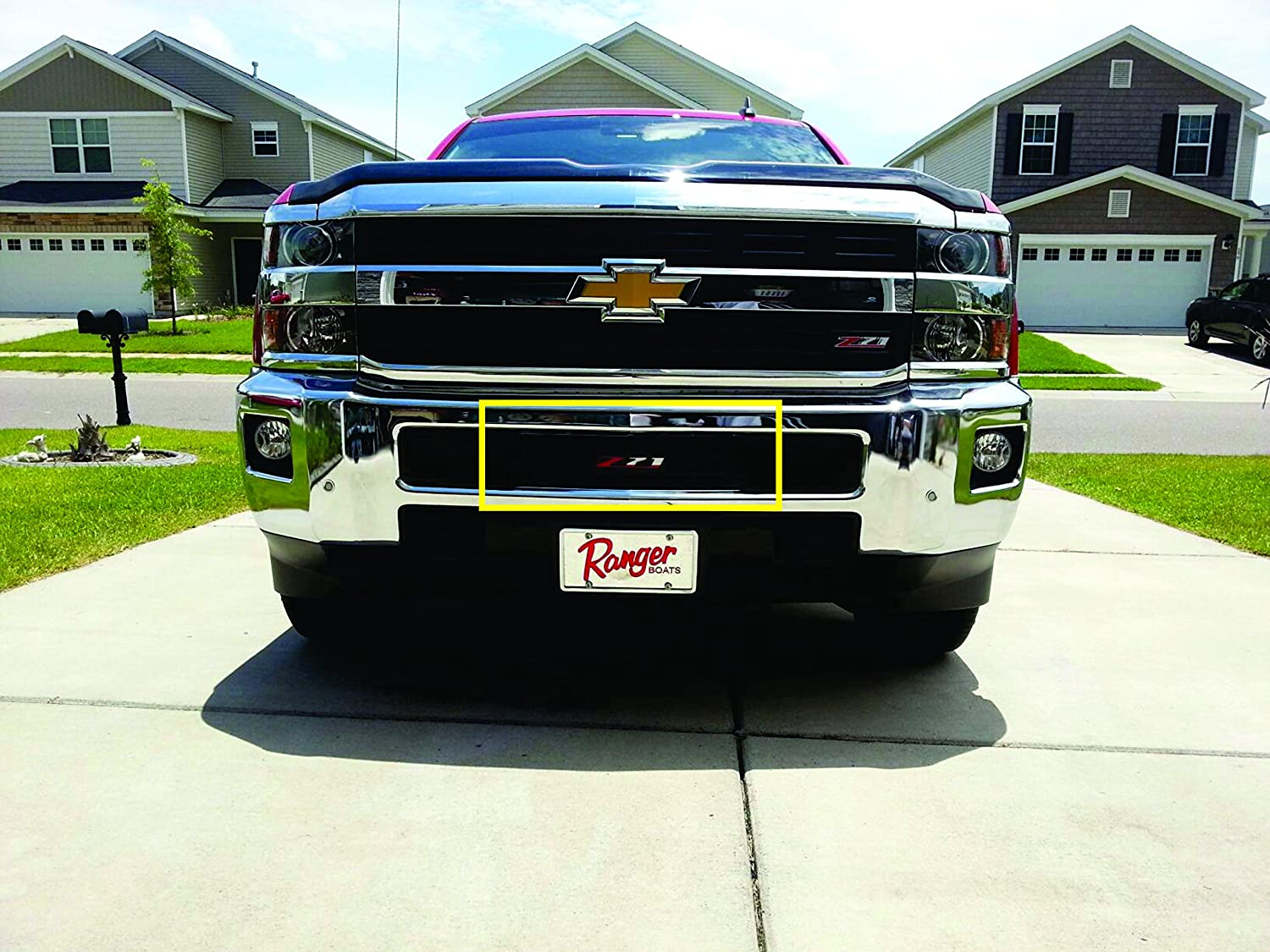 Mountains2Metal 2015-2019 Chevy Silverado 2500 3500 HD Z-71 Edition Stainless Steel Powder Coated Black Bumper Grille Insert