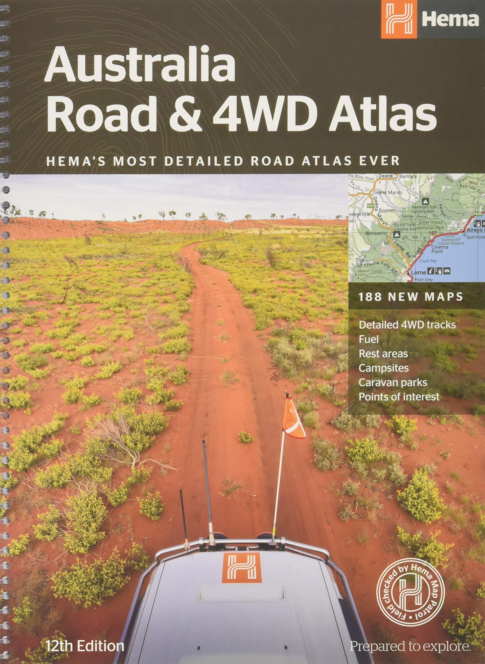 Australia Road And 4WD Atlas  Spiral Bound   HEMAs Most Detailed Road Atlas Ever With 188 New Maps