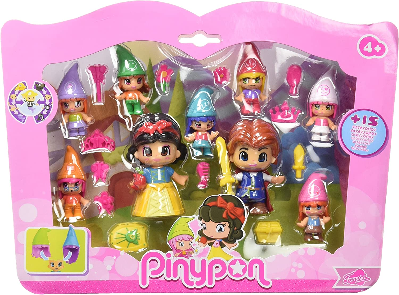 Pinypon Pack de figuras Blancanieves y siete enanitos (Famosa ...