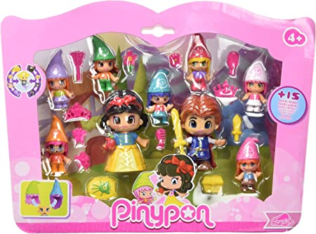Blancanieves y el Príncipe, junto con los siete enanitos en un solo pack para que las niñas puedan t