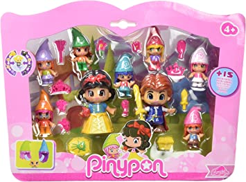 Pinypon Pack de Figuras Blancanieves y Siete enanitos (Famosa 700012750): Amazon.es: Juguetes y juegos