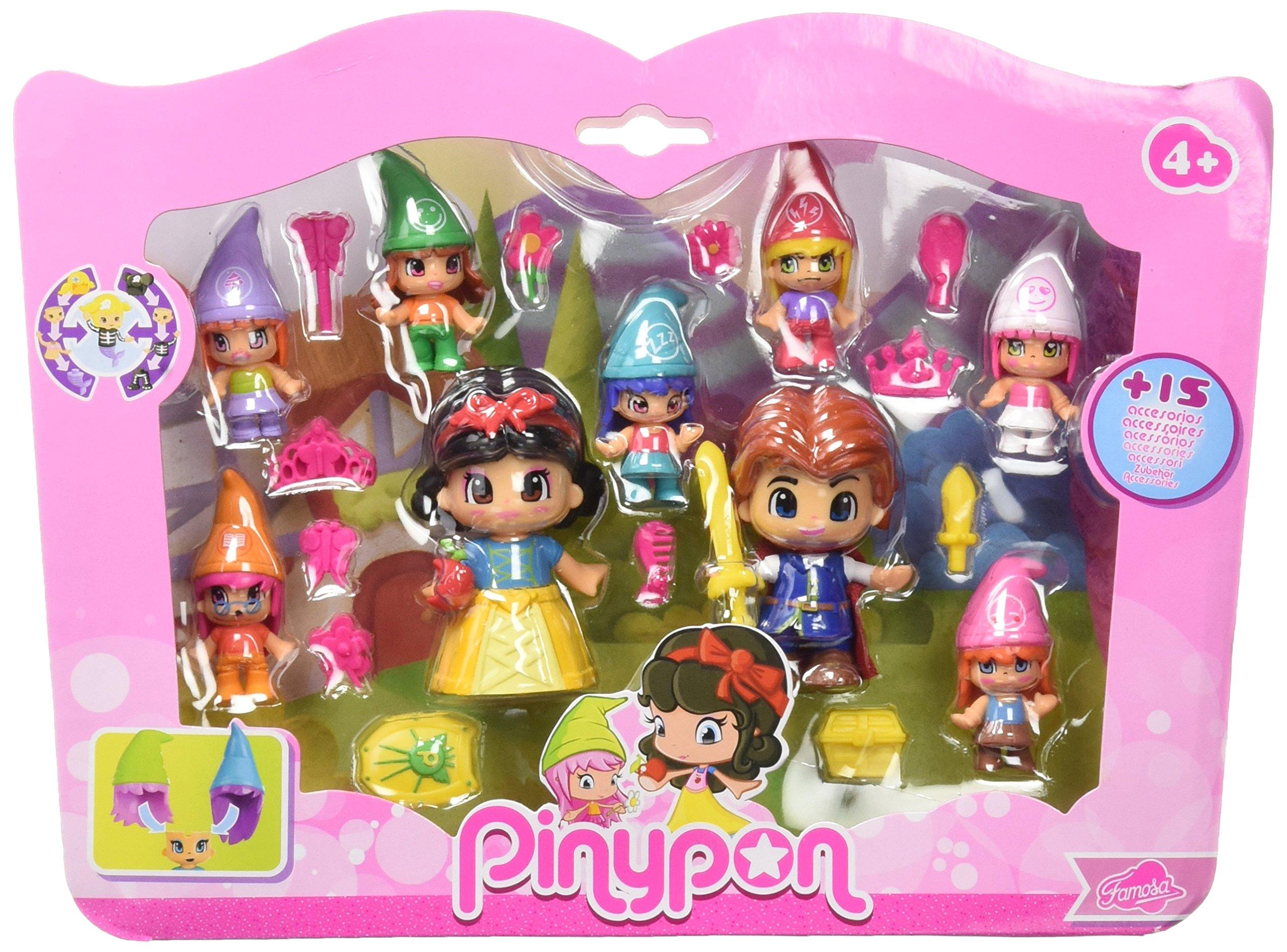 Pinypon Pack de figuras Blancanieves y siete enanitos (Famosa 700012750)