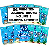 "(195 PACK) 4.75"" x 4.75"" Mini Ocean Coloring Book Party Favor (goodie bag coloring book, birthday mini coloring book…"