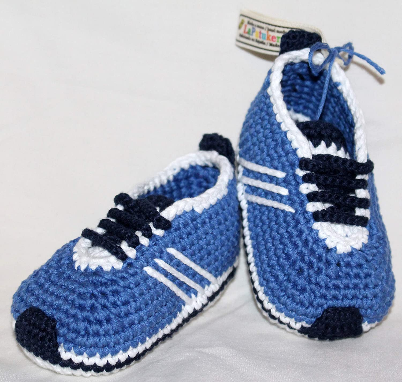 Abundante Novelista Sentido táctil  Patucos, zapatos para bebé de crochet, Unisex. color a elegir, 100%  algodón, tallas de 0 hasta 9 meses, hechos a mano en España. Regalo para  bebé.: Amazon.es: Handmade