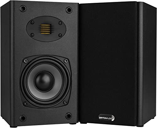 Dayton Audio B452-AIR 4-1 2 2-Way Bookshelf Speaker Pair with AMT Tweeter
