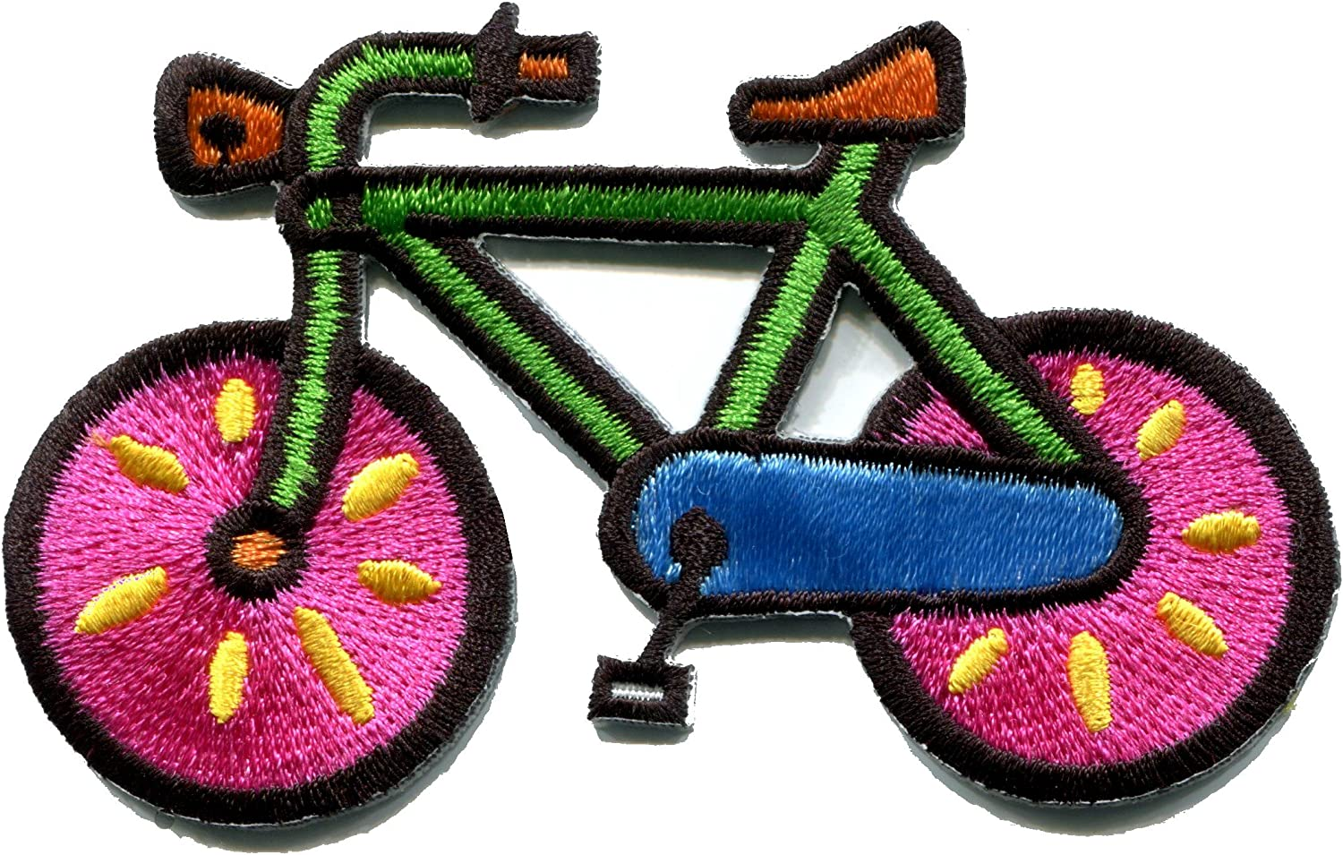 Bicycle 10 speed bike Fully Embroidered Iron-On Fabric Appliqué