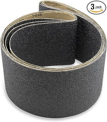 8 Pack Red Label Abrasives 3 X 18 Inch 24 Grit Silicon Carbide Sanding Belts
