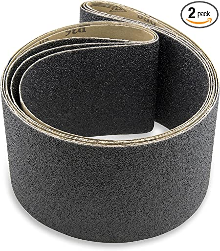 6 X 89 Inch 36 Grit Silicon Carbide Sanding Belts 2 Pack