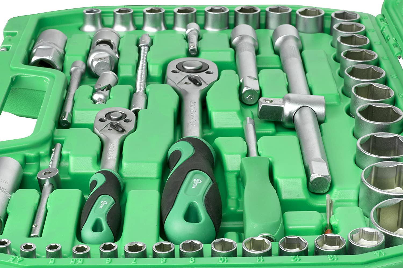 INTERTOOL 94-pc 1//2 and 1//4 Household Mechanic Sockets Tool Set ET-6094SP