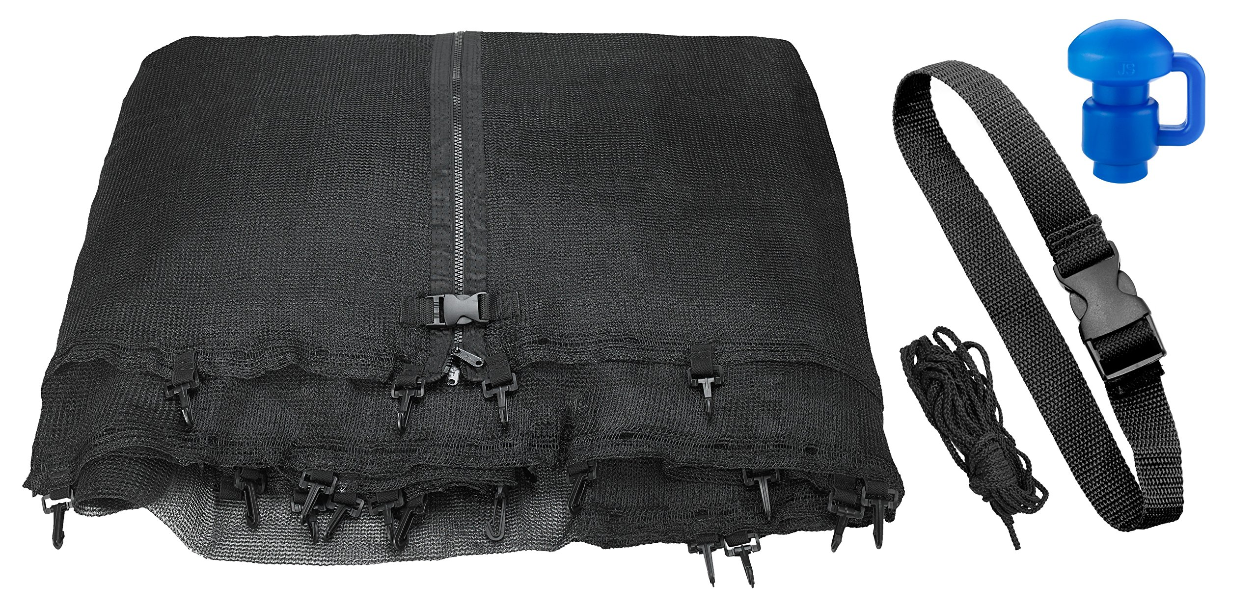 Trampoline Replacement Enclosure Net, Fits For All Sizes Round Frames (All brands),  Works with multiple amount of poles - Pole Caps Included by Upper Bounce