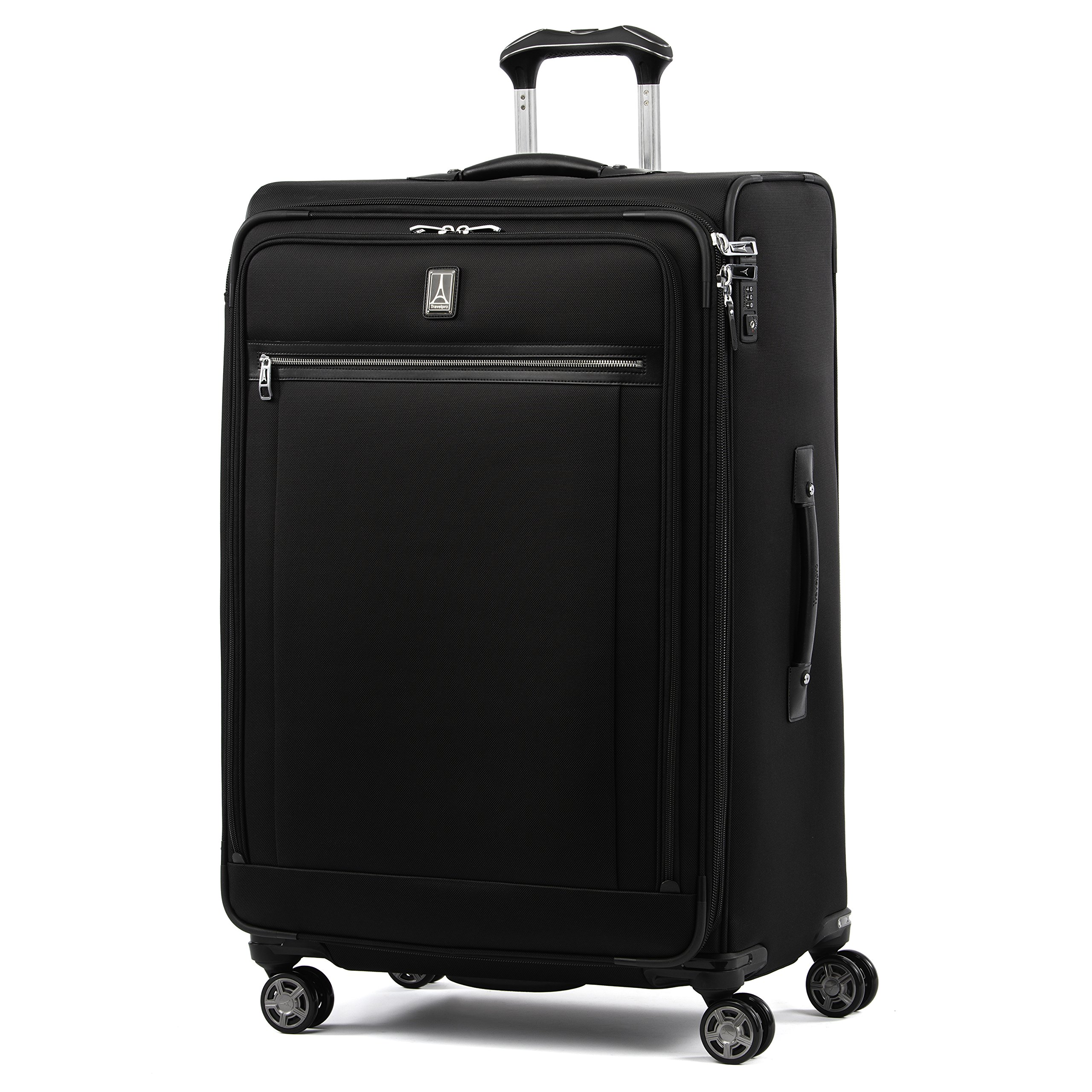 Travelpro Luggage Platinum Elite 29'' Expandable Spinner Suitcase w/Suiter, Shadow Black