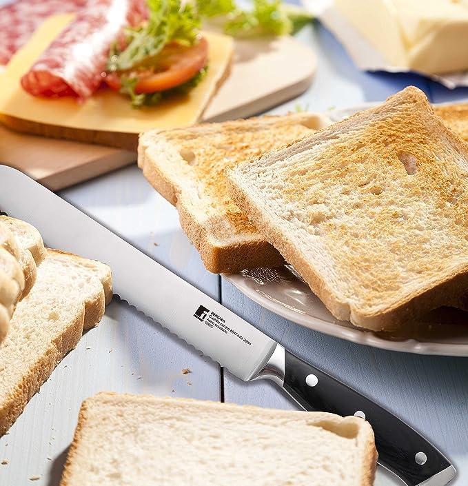 Bergner Master Bread Knife 8-Inch, Stainless Steel