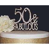 Amazoncom Black 50 Fabulous Cake Topper Kitchen Dining