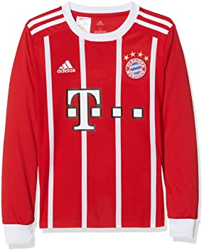 e781c3505 adidas Children s FC Bayern München Home Replica Jersey Youth 2017 18 Long  Sleeve Jersey Shirt