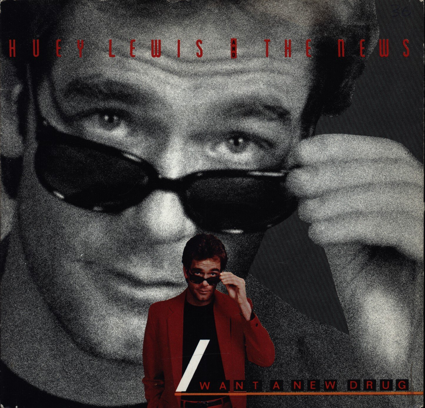 "Huey Lewis: I Want A New Drug / Finally Found a Home 7"" 45 VG++ Canada"