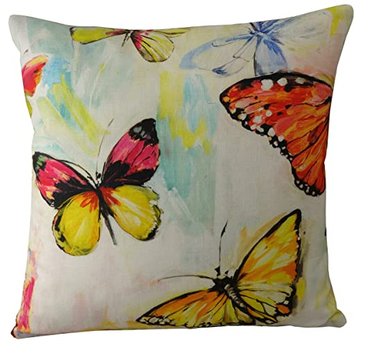Butterfly Cushion Cover 40x40 Tropical Throw Pillow Cover Handmade Fascinating Tropical Throw Pillow Covers