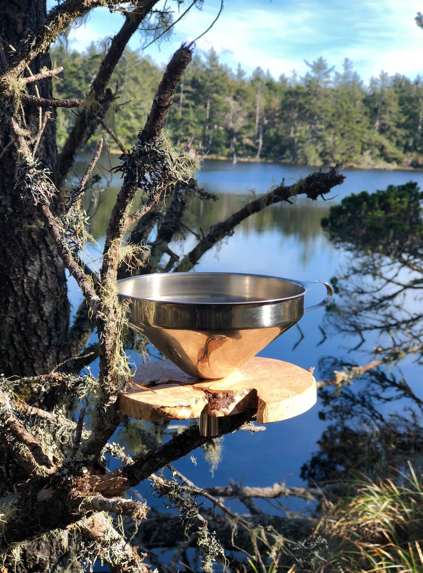 Handmade Wood and Metal Coffee Dripper