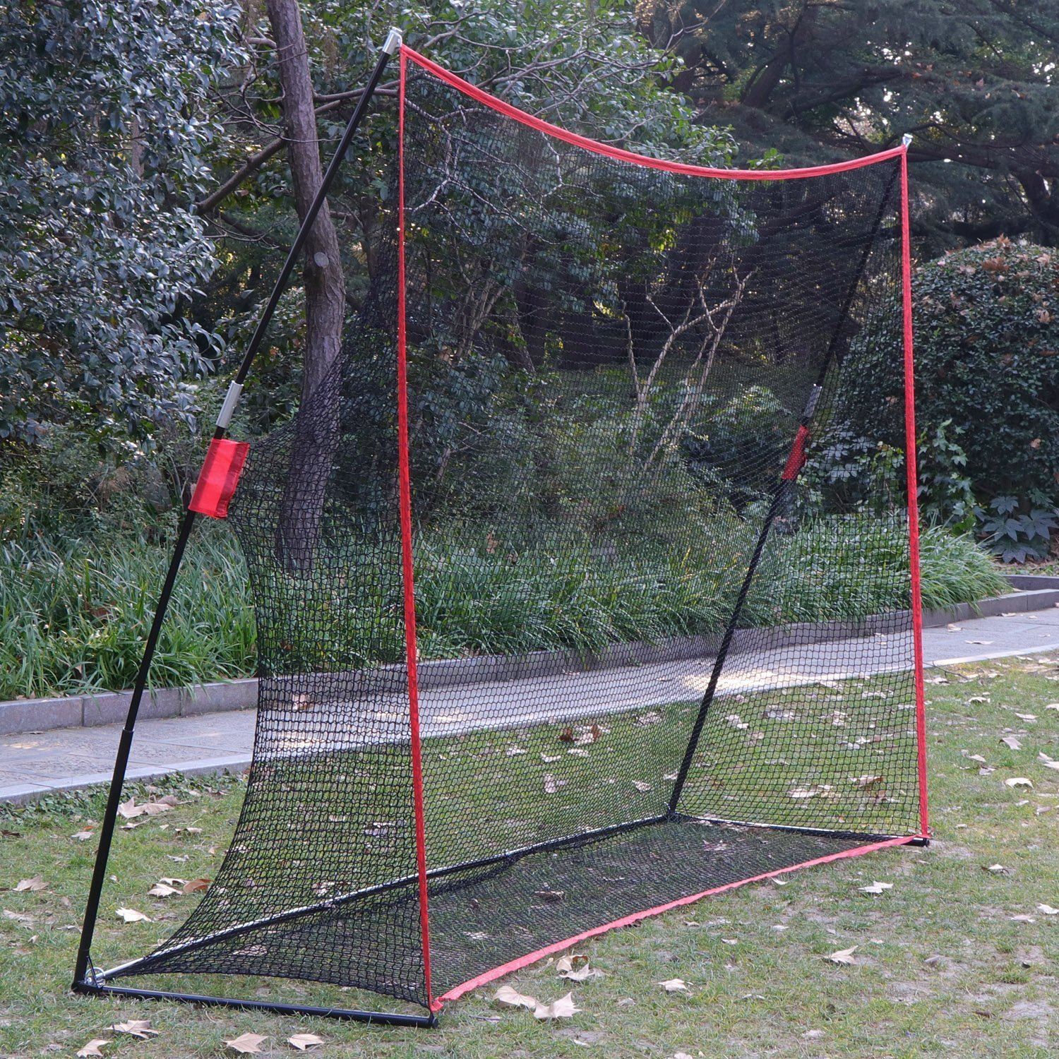Fashine 10 x 7ft Golf/Baseball/ Soccer/Lacrosse Training Pitching Hitting Net Practice Driving Indoor and Outdoor with Bow Frame and Carrying Bag (US Stock) by Fashine (Image #6)