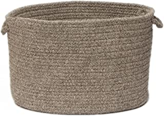 product image for Colonial Mills Natural Wool Houndstooth Utility Basket, 18 by 12-Inch, Caramel