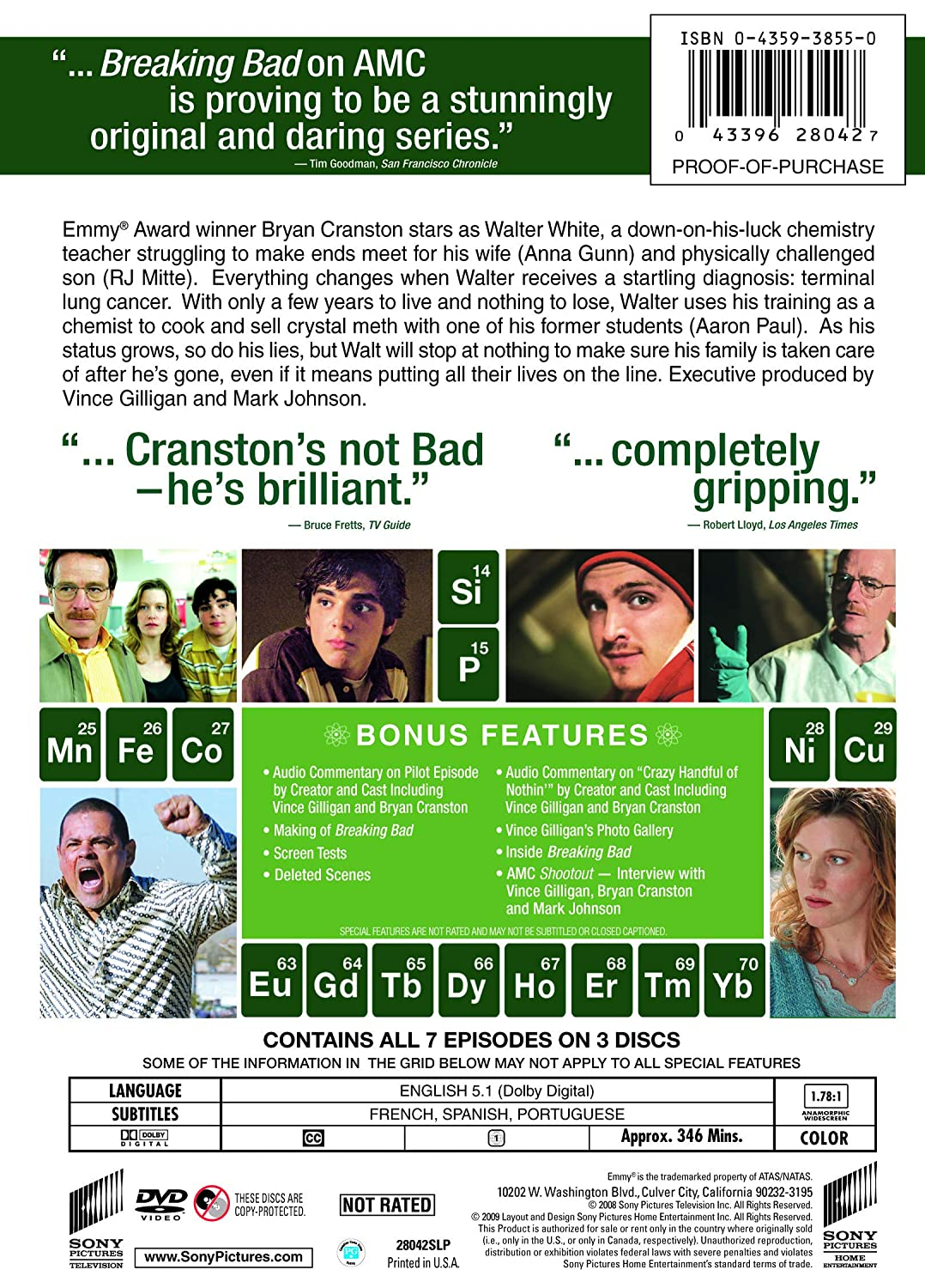 Breaking Bad: Complete First Season Reino Unido DVD: Amazon.es: Cine y Series TV