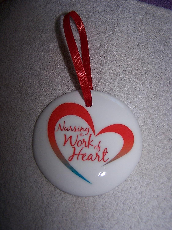 Amazon.com: Nursing a Work of Heart~Christmas Ornament~RN~LPN~Caring ...
