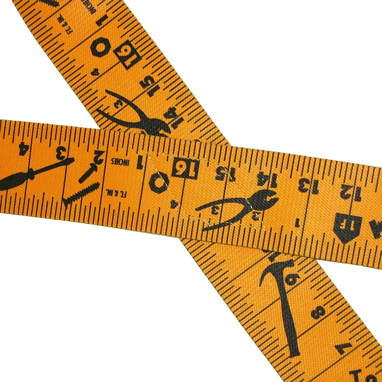 CTM Mens Elastic Clip-End 2 Inch Tape Measure Suspenders Yellow//Black SF-UA250N-TM-YELBLK