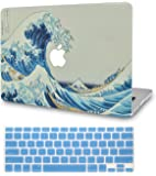 Luvcase MacBook Case with Keyboard Cover, Screen Protector, Sleeve Multicoloured Japanese Wave with Keyboard Cover A1989…