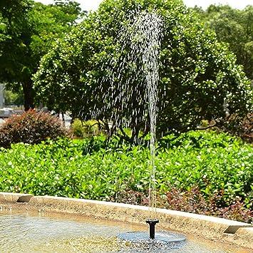 Xcellent Global Fontaine à énergie solaire, pompe à eau flottante avec un  panneau solaire de 1.4W pour pièce d\'eau extérieur, bassin, mare, ...