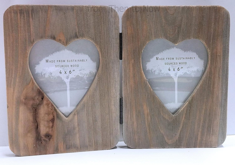 Amazon.de: Chic & Shabby rustikalem Holz Double Heart aufklappbaren ...
