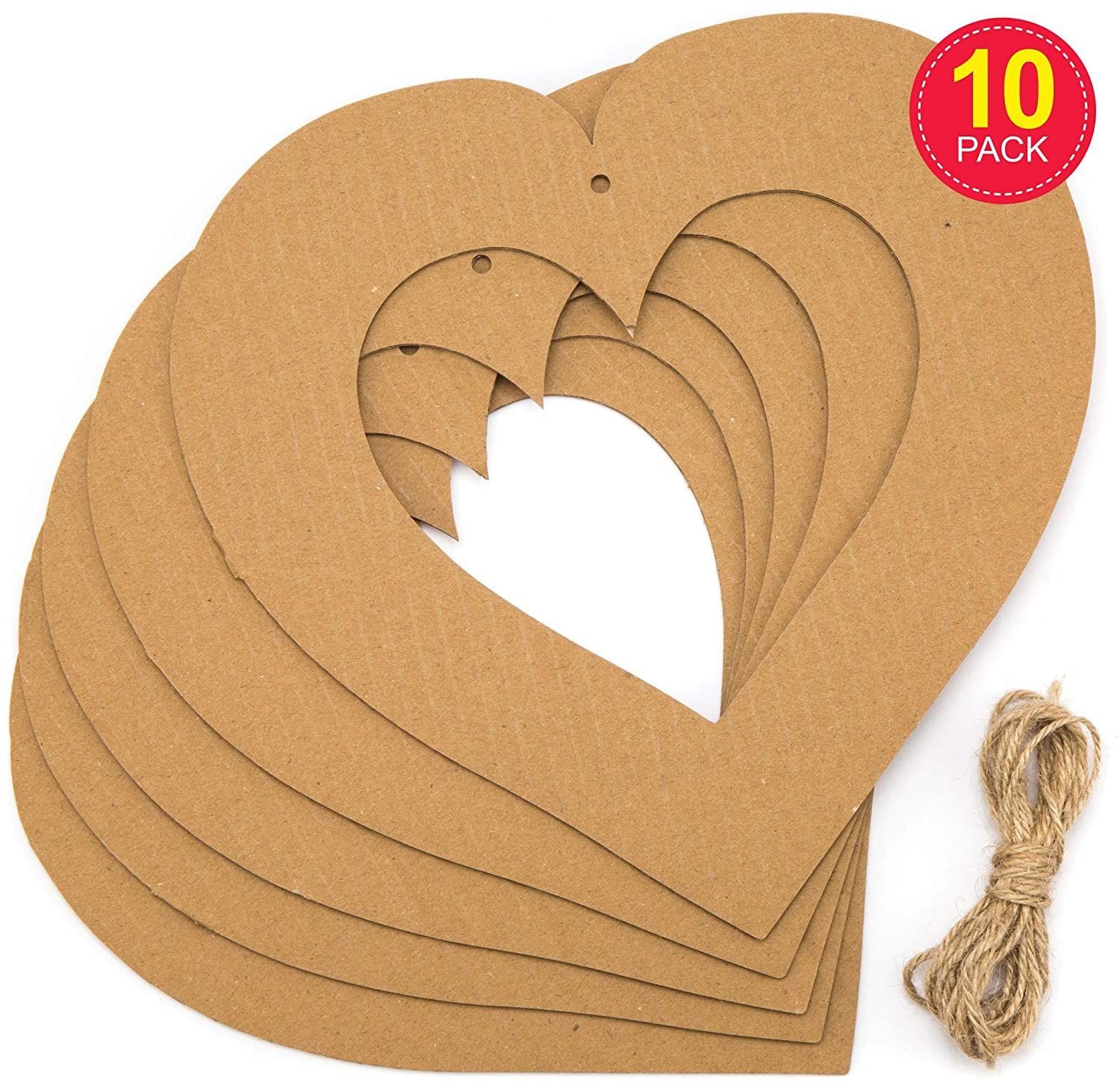 Berries Baker Ross AX854 Heart Rattan Wreaths Pine Branches and More Eco Friendly Material Decorate with Pinecones Perfect for Seasonal Displays Pack of 2