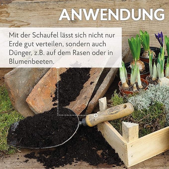 Gartenkelle Handschaufel Edelstahl Schaufel zum Pflanzen Umpflanzen J/äten Bewegen rund