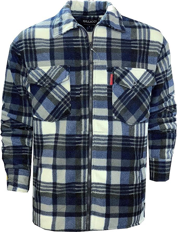 COMPLETO Termico in PILE PELLICCIA IMBOTTITO TRAPUNTATO Lumberjack Camicia Giacca zip 3XL 4XL 5XL