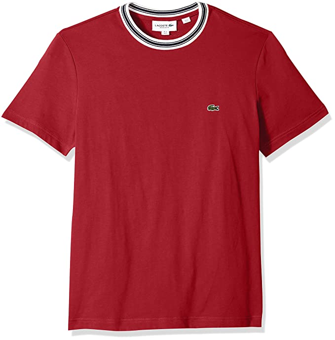 04dfdccb Lacoste Mens Short Sleeve Semi Fancy Jersey Regular Fit T-Shirt ...