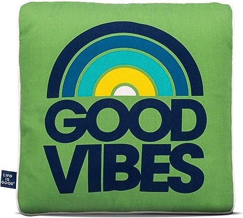 Life is Good Good Vibes Outdoor Toss Pillow