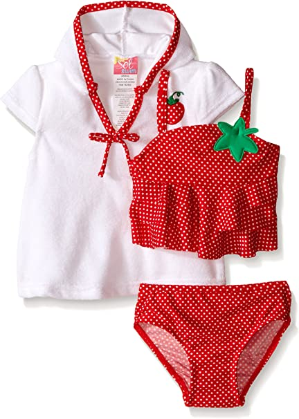Amazon.com: Sol Swim Baby Girls STRAWBERRY Doll traje de ...